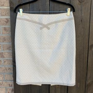 Nanette Lepore Patterned Ribbon-Trim Pencil Skirt
